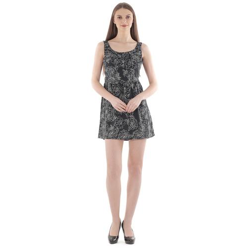 Black Crepe Fit & Flare Dress