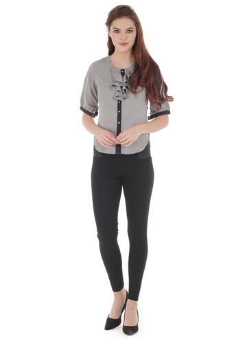 Ruffle Spanish Gray Shirt