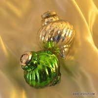Ball Dark Champagne Gold Glass Ball Christmas Ornament