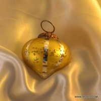 Bubblegum Silver Mirrored Glass Disco Ball Christmas Ornaments