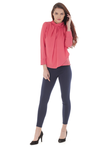 High Band Pleated Tops