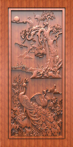 Carving Door Print Skin