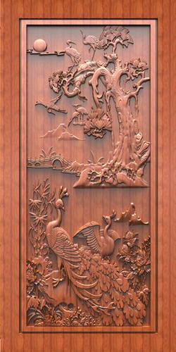 Carving Door Print Skin
