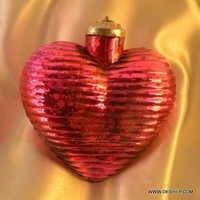 Vintage Pink Glass Christmas Tree Ornament