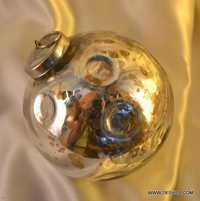 Clear Glass Ball Bauble Onion With Laces, Christmas Tree Ornament Decoration