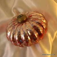 RED COLOR GLASS SILVER CHRISTMAS ORNAMENTS