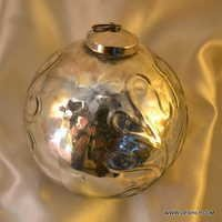 GLASS SILVER COLOR CHRISTMAS ORNAMENTS