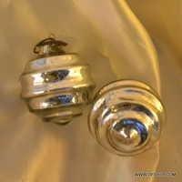 Glass Silver Ornaments