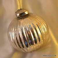 Christmas Hanging Glass Ball Ornament Round Antique handpainted hand blown glass