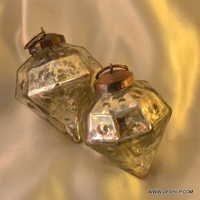 Holiday Lane Gold with Swirl Glass Ball Ornaments