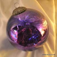 Christmas Ornaments Clear Glass Silver Design Glass Ball Shaped Ornaments