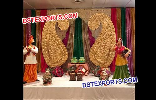 Indian Wedding Mehandi Stage Decoration
