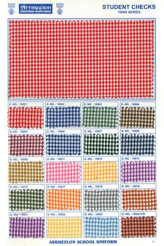 Student Check Uniform Fabric