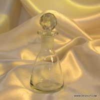 Glass Art Deco Decanter Liqueur Bottle