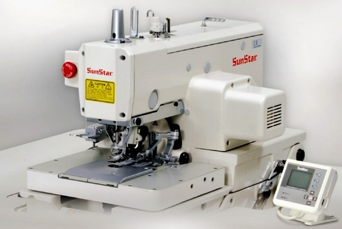 Direct drive, electronically controlled, chain stitch, eyelet button hole sewing machine