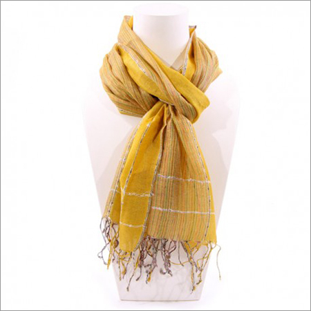 Yarn Dyed Yellow Scarf india