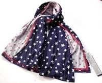 Cotton Star Print Scarf
