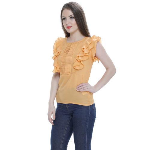 Orange Ruffle Top