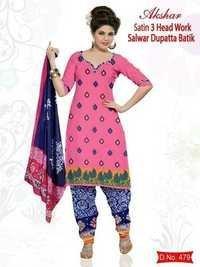 Hand Work Print Salwar Suit Dupatta / Jetpur