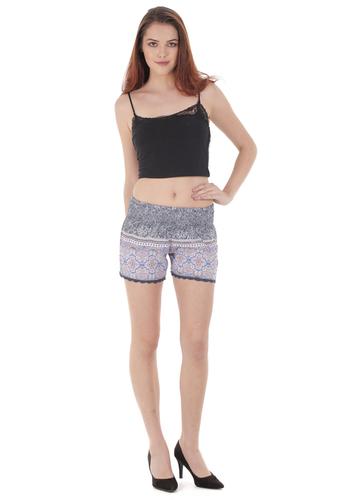 Printed Georgette Shorts
