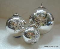 Glass Ball Ornaments Clear Glass Ball Ornaments Christmas Ornaments Set Tree Clear