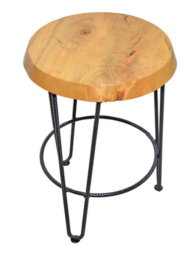 Live Edge Industrial Bar Stool