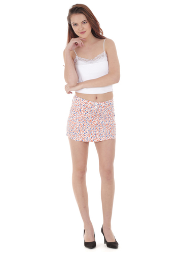 Printed Short Skirt