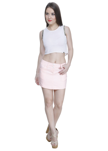 Baby Pink Short Skirt