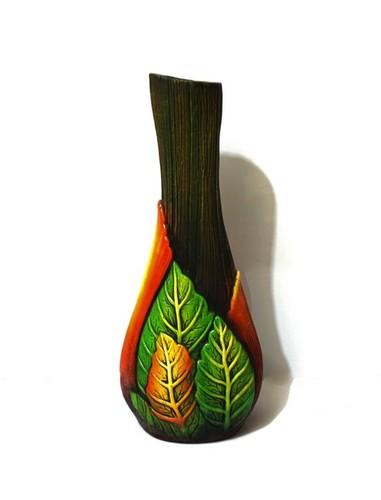 Medium Flower Vase Leaf Finish