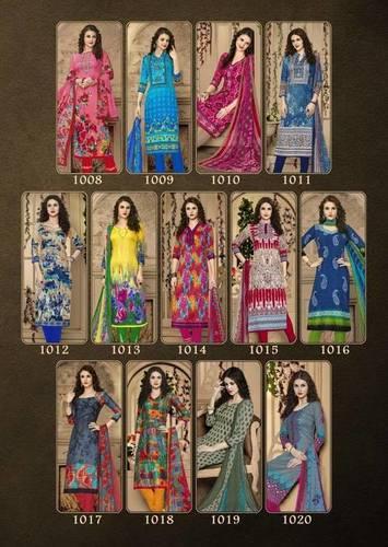 Balar Cotton Printed Dress Material