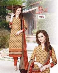 Cotton designer suits balaji spark vol-4