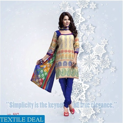 kundan  Cotton Printed Dress Material