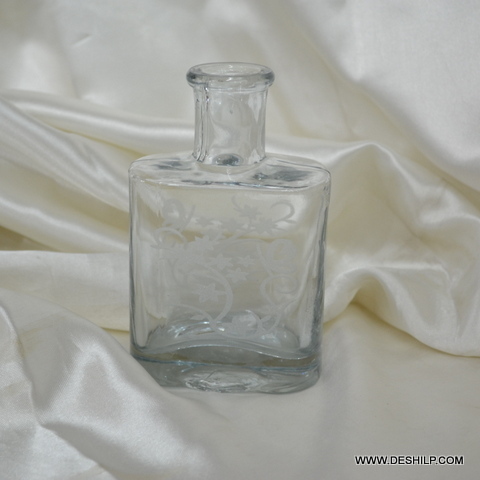 REED DIFFUSER GLASS PERFUME BOTTLE AND DECANTER, DECORATIVE PERFUME BOTTL