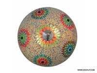Multicolored Mosaic Brass Ceiling Lamp Lighting Golden Ceiling Light