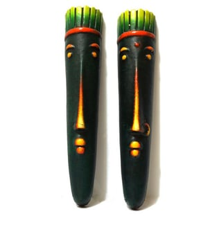 African Tribal Face set of 2