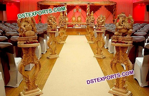 Hand  Made  Indian  Wedding  Wooden  Mandap