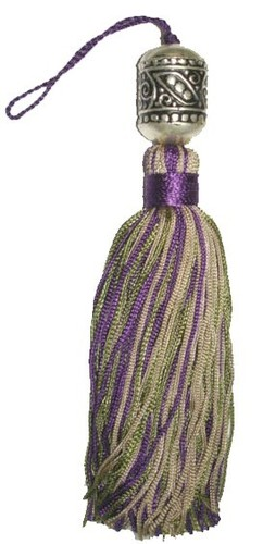 GREEN PURPLE TASSEL