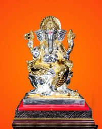 Gold Silver Plated Ganesh Statue