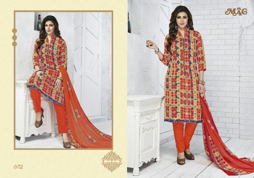 Printed dresses with chiffon dupatta mag zara