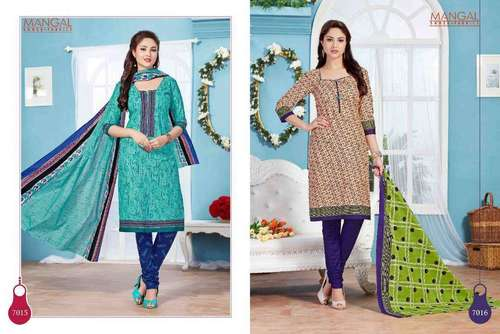 Cotton printed dress materials mangal vol-7