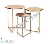 Hexa Nesting Side Table s/o  03 pcs