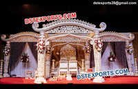 Heavy  Fiber  Carved  Wedding  Mandap