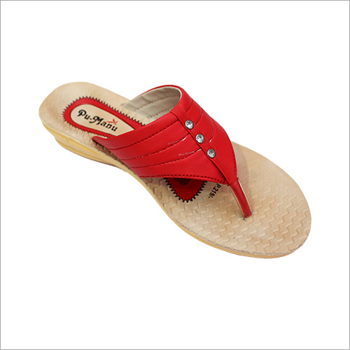 Red Women Flat Slipper