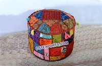 Colourful  Wedding  Patchwork  Pouf
