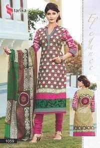 Printed cotton suits tarika ridham vol-3