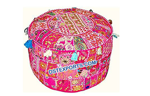 Decorated  Wedding  Rajasthani  Pouf
