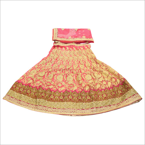 Golden Jari Work Bridal Lehenga