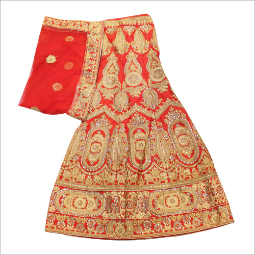 Heavy Zari Work Bridal Lehenga Choli