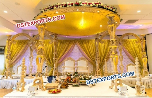 Traditional  Wooden  Handmade Wedding   Mandap
