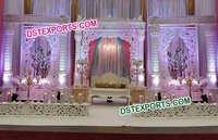 Fiber Carved Royal Wedding Stage